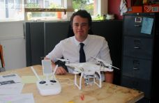 Jack Winsley (yr 13) with the drone that is used for short film making