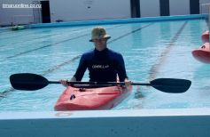 Sam Richardson, Outdoor Education, in the school's swimming pool