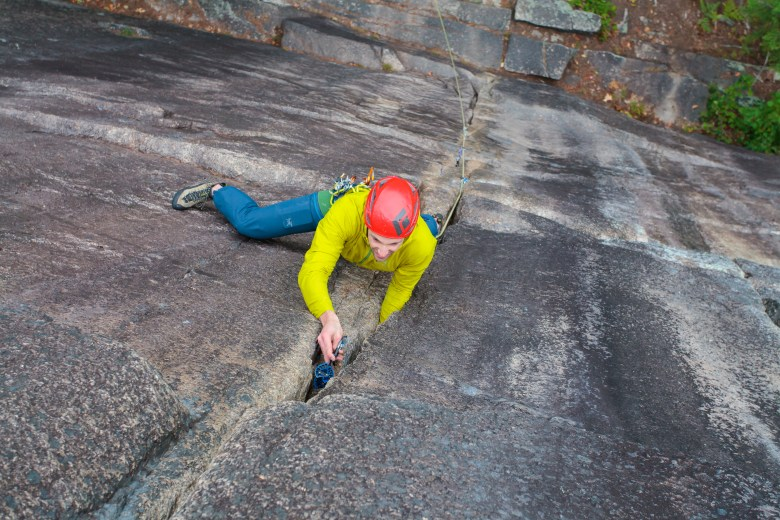 Adam Bidwell Climbing Nut Cracker on Cathedral Ledge - North Conway (5 of 10)