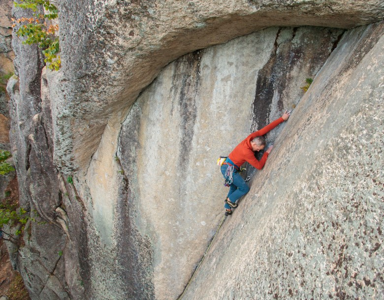 Book of Solemnity, 5.10a on Cathedral Ledge (3 of 21)