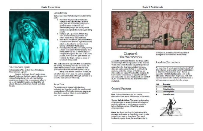 Revised section layout for The Darkness Beneath Dalentown