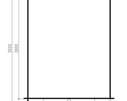 10x8 Shed Anita L 6,2m² / 28mm / 2,5 x 3 m