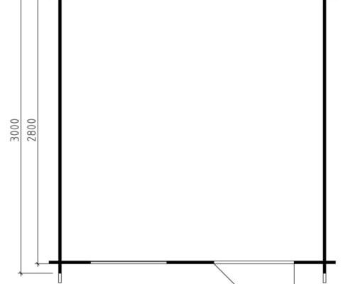 Garden Log Cabin Anke XL 7,5m² / 28mm / 3 x 3 m