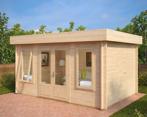 Modern Garden Room Jacob D 12m² / 40mm / 4,4 x 3,2 m