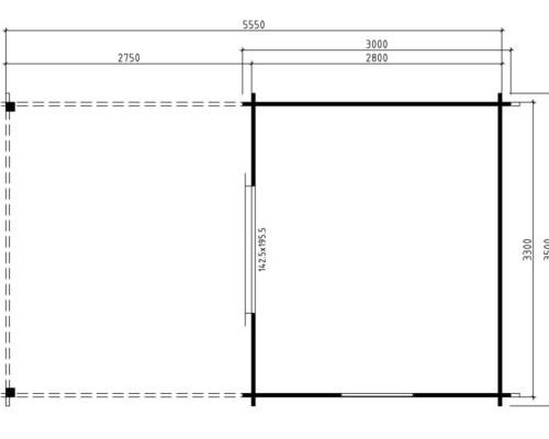 Garden Room Carol C 9m² / 40mm / 3 x 3,5 m