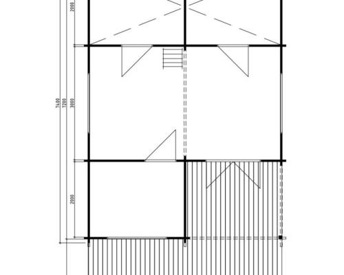 Large Garden Log Cabin Manchester 31m² / 50mm / 5,3 x 7,4 m