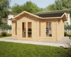 Garden Log Cabin Eamon 25m2 / 50mm / 4 x 6 m