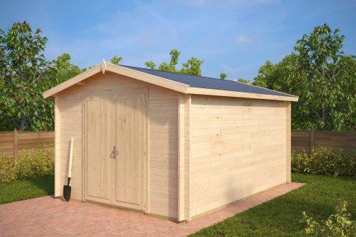 Large Garden Storage Shed Eva A 12m² / 40mm / 3,2 x 4,4 m