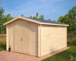 Large Garden Storage Shed Eva A 12m² / 40mm / 3,2 x 4,4 m