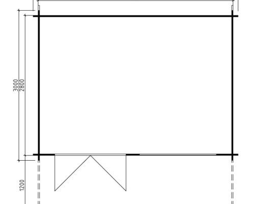 Garden summer house Felix 10,5m² / 28mm / 4,1 x 3 m