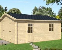 Wooden Garage Type A 16m² / 40mm / 3,2 x 5,7 m