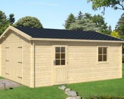 Extra Large Timber Garage Type B 24m² / 40mm / 4,7 x 5,7 m