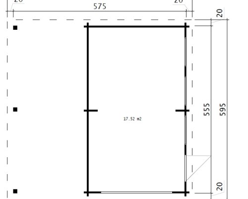 Garage and Carport Combination Type H / 44mm / 6 x 6 m
