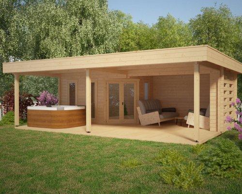 Large Garden Shelter Garden Paradise A 10m2 / 50mm / 8 x 6 m