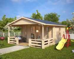 Summer house with Veranda Henry 15m² / 44mm / 6 x 4 m