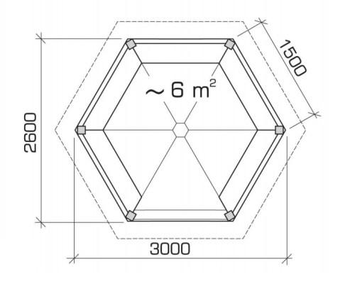 BBQ Gazebo Lotte S 6m² / 3 x 3 m