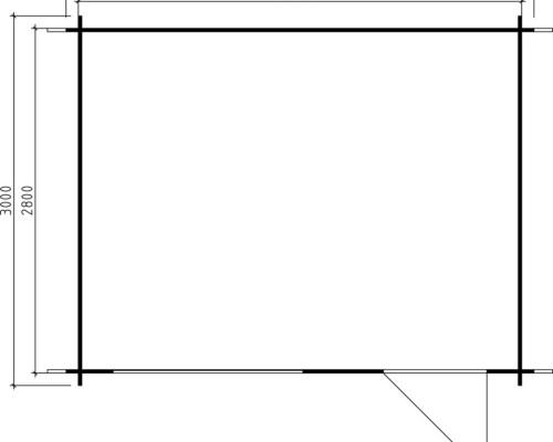 Wooden Garden Room Lena L 10m² / 28mm / 3,8 x 3 m