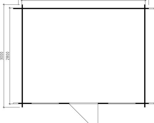 Garden Summerhouse Lisa L 10m² / 28mm / 3,8 x 3 m