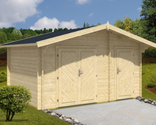 Large Garden Double Shed Mike 10,5m² / 28mm / 4,1 x 3 m