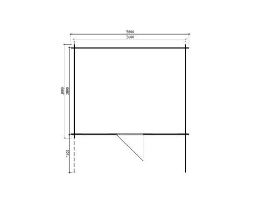 Large Garden Room Sara L 10m² / 28mm / 3,8 x 3 m