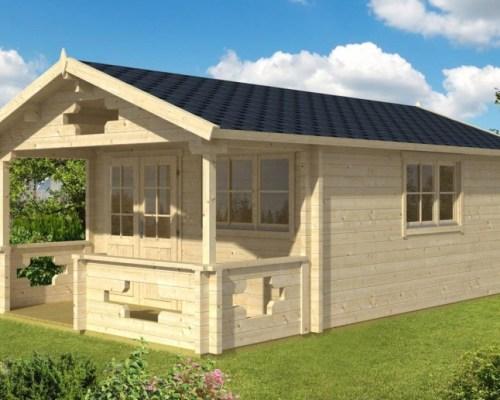 Garden Sauna Cabin Sommerland 19m² / 70mm / 5,3 x 4,1 m