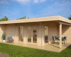 Summer House with Sauna Hansa Lounge XXL 22m² / 44mm / 8 x 5 m
