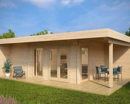 Summer House with Sauna Hansa Lounge XXL 22m² / 44mm / 8 x 5 m