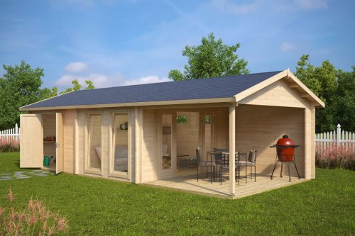 Large Garden Room with Shed Robin 22m² / 50mm / 9 x 4 m