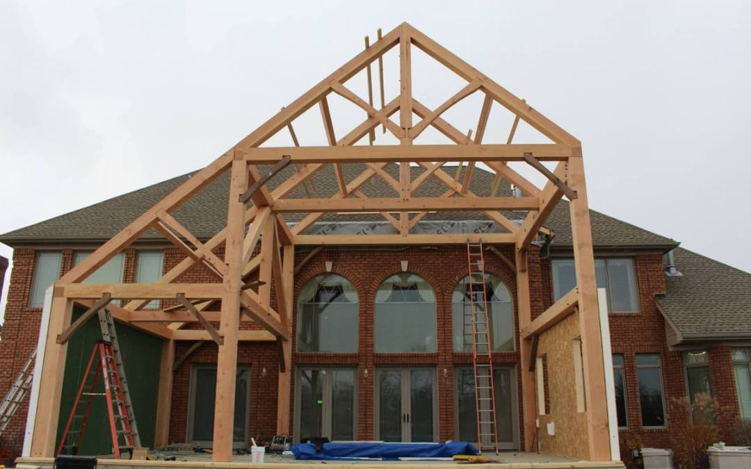 Timber Frame Addition in Michigan