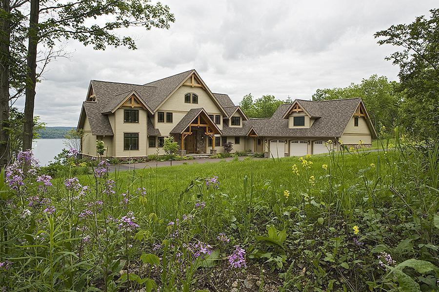 Custom Douglas Fir Timber Frame Home – Ithaca, NY