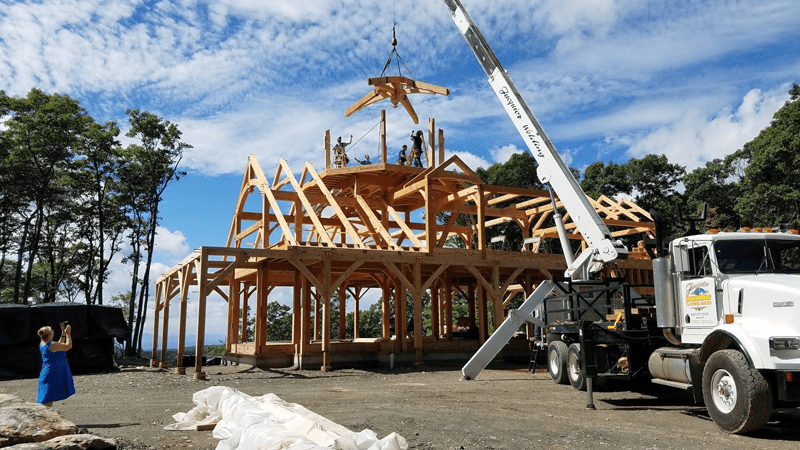 Timber Frame home in progress