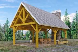 Woodhouse King Post Long Pavilion Kit