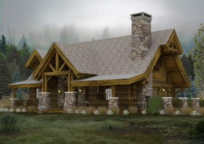 Adirondack Homes Series Woodhouse The Timber Frame Company