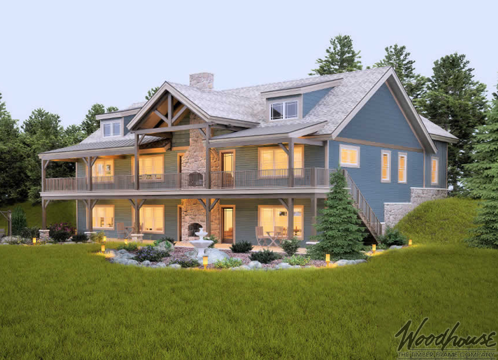 Highplains woodhouse the timber frame company for Ranch timber frame plans
