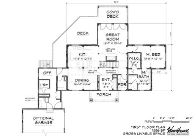 LakeView 1st Floor Plan