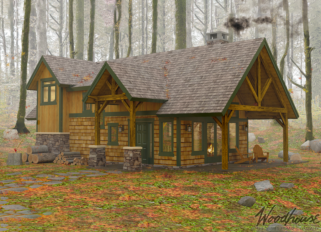 Timber frame home plans woodhouse the timber frame company for Timber frame house plans for sale