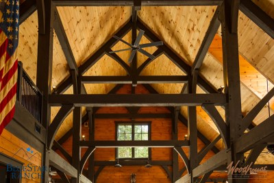 Custom Douglas Fir Timber Frame Stable in Cashiers NC