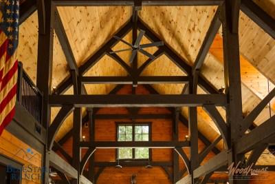 Custom Douglas Fir Timber Frame Stable in Cashiers NC
