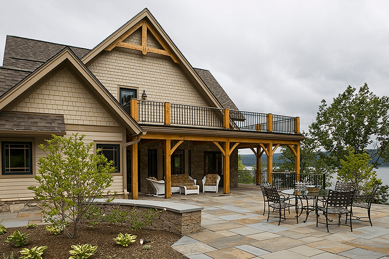 8516 square foot Custom Douglas Fir Timber Frame Home with 5 bedrooms and 5.5 bathrooms