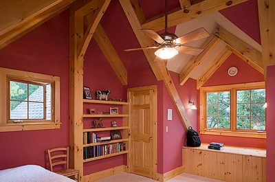 Custom Eastern White Pine Timber Frame Home in Lansing NY
