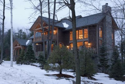 Custom Eastern White Pine Timber Frame Home in Asheville, NC