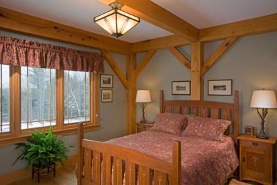 Custom Red Oak Timber Frame in Morristown, VT