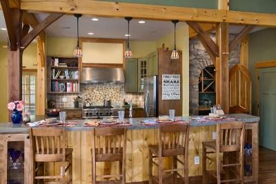 Custom Eastern White Pine Black Walnut Timber Frame Home in Finger Lakes NY