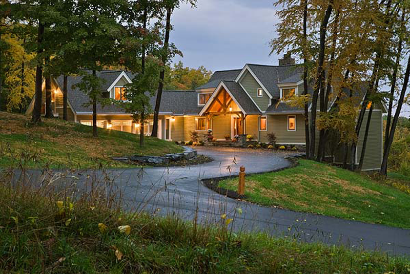 A Family Timber Home in the Finger Lakes