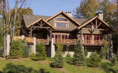 Custom Douglas Fir Timber Frame Home – Windham Mountain, NY