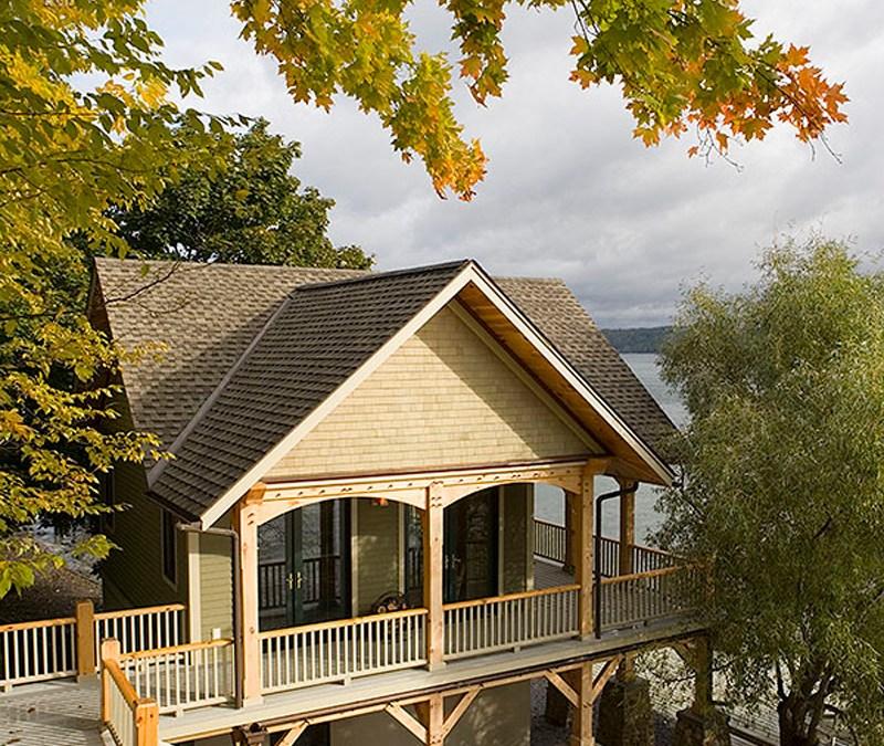 Custom Eastern White Pine Timber Frame – Interlaken NY