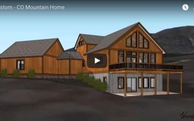 Colorado custom timber frame mountain home