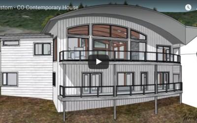 Custom Contemporary Timber Frame Home in Colorado