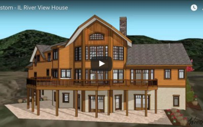 Custom Timber Frame Home with water views in Illinois