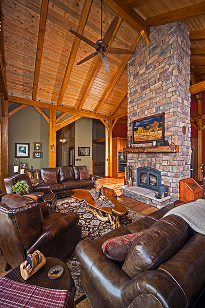 Wedgewood Southern Yellow Pine Timber Frame Home in Fairplay CO